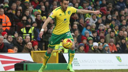 Ivo Pinto of Norwich in action during the Sky Bet Championship match at Carrow Road, NorwichPicture
