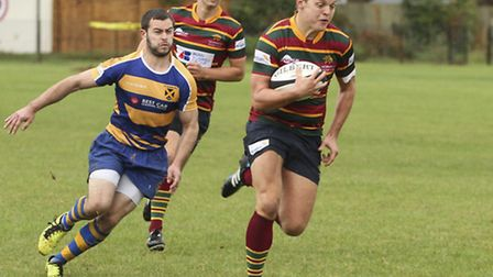 Jonny Wheater touched down by Norwich as they went down at South Woodham Ferrers.