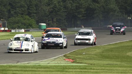 Picture of the British GT championships and British Formula Three championships at Snetterton circui