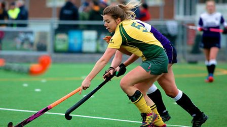 Norwich City Ladies mount an attack against Old Loughtonians on Saturday. Picture: SIMON TASKER