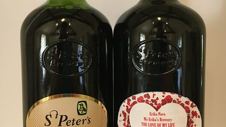 St Peter's Brewery has produced a special personalised beer to surprise a woman in Mexico.
