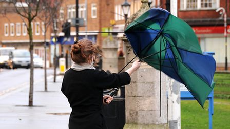 Strong winds are expected in north Norfolk's coastal areas today as Storm Doris sweeps through the r