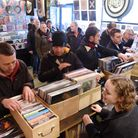 Vinyl enthusiasts shopping at Soundclash on St Benedicts Street, Norwich. Photo : Steve Adams