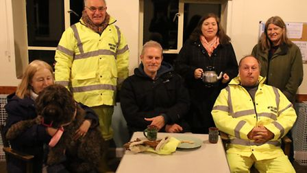 Salthouse residents were evacuated to the village hall. Picture: ALLY McGILVRAY