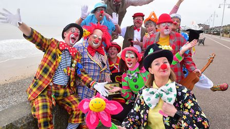 A scene from the 2016 clown convention in Lowestoft. PHOTO: Nick Butcher