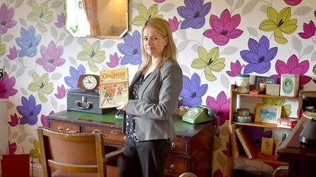 Brooke House manager Hayley Hirst in the new reminiscence room. Picture: Gordon Powles.