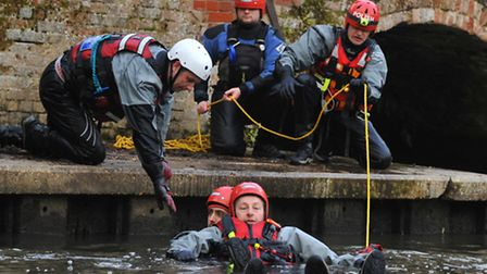 Norfolk Lowland Search and Rescue team hold a training session at Horstead Mill. Photo by Simon Finl