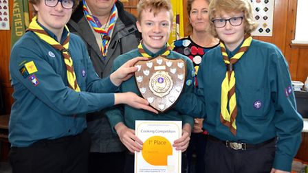Lowestoft and District Scouts Cookery Competition. Winners 1st Pakefield. Pictures: MICK HOWES