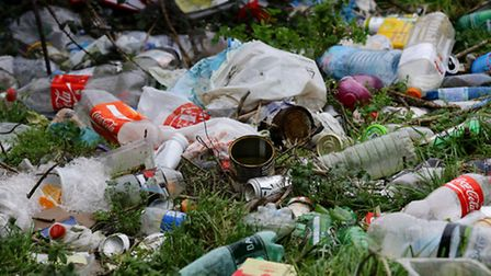 Litter. Photo credit : Gareth Fuller/PA Wire