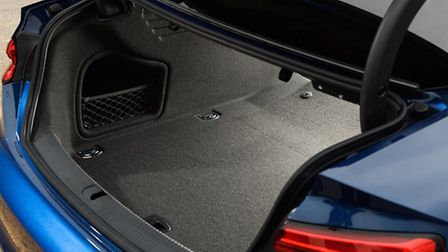Audi A5 Coupe's boot space is a respectable 465 litres and rear seat backs split 40/20/40. Picture: