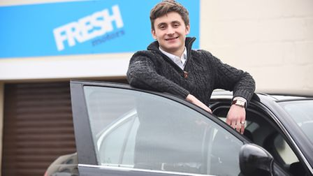 Jacob Freshwater is the founder and director of Fresh Motors in Watton. Picture: Ian Burt
