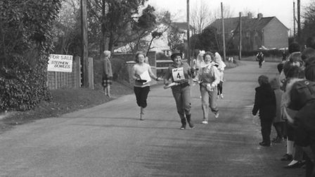 It's all fun and games at the Rocklands pancake race on the 2nd of March 1982. Photo from Archant