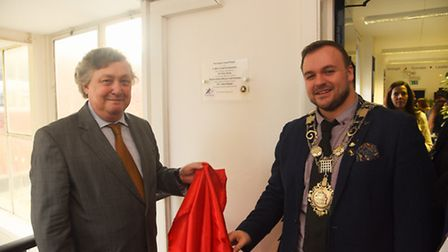 At the official opening of the new Portuguese support service at The Charles Burrell Centre in Thetf