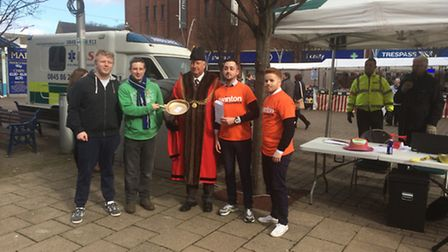 The winners of the pancake race Picture Anthony Carroll