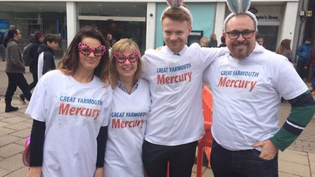 The Great Yarmouth Mercury team which reached the semi-finals Picture Anthony Carroll