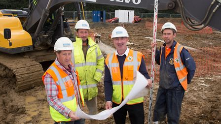 Bateman Groundworks team at a site in Wymondham at the end of last year. Picture: TMS Media