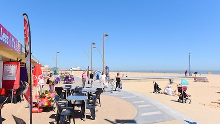 Great Yarmouth beach where officers were alerted to a UFO sighting. Picture: James Bass