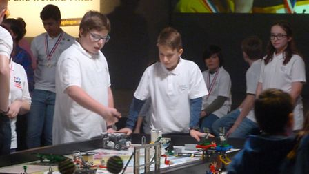 Students from Neatherd High School in Dereham competed in the FIRST Lego League final in Bristol. P