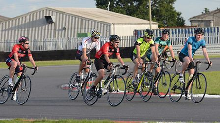 People taking part in the third Snetterton Race Circuit cycle event in aid of East Anglia's Children