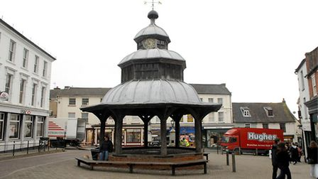 A removable stage is being provided for events at North Walsham's Market Cross. Picture: ARCHANT
