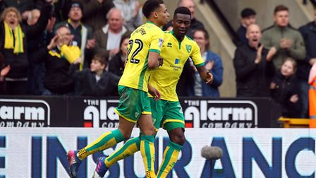 Jacob Murphy of Norwich celebrates scoring his sides equalising goal during the Sky Bet Championship