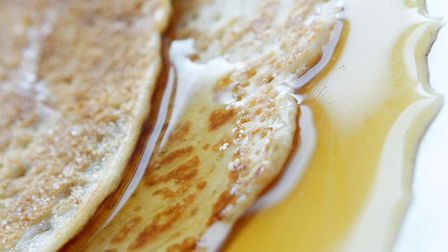 A pancake with Maple syrup in anticipation of Shrove Tuesday. Picture: Danny Lawson / PA Wire