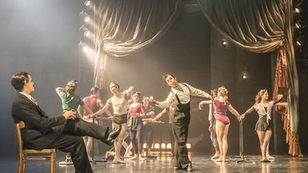 The cast of Matthew Bourne's The Red Shoes, which features music from Hollywood composer Bernard Her