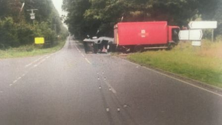 The scene of the collision in which Stephen Hubbard died at the junction of Shortthorn Road and Holt