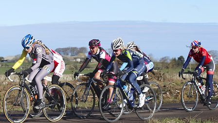 YNSA member Isla Rush, centre front, competing in Tour of the Reservoir in Northumberland. Picture: