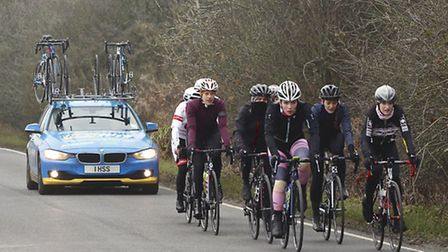 Young Norfolk Sports Academy member Isla Rush, front, during winter training. Picture: Submitted