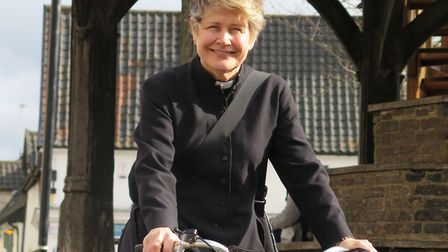 The Rev Catherine Relf-Pennington has become the first female vicar of Wymondham Abbey. Picture: WYM