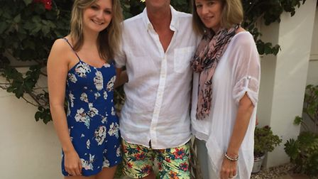 Stuart Cullen, pictured with his daughter Emma-Jayne and wife Christine. Picture: Supplied by family