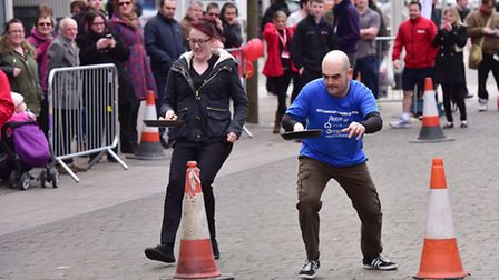Action from the Lowestoft 2017 pancake race.PHOTO: Nick Butcher