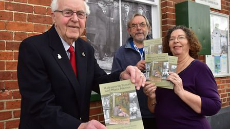 Derek Newby,92, with his new book 'Halesworth Street Names and Places'. Proceeds from sales of the b