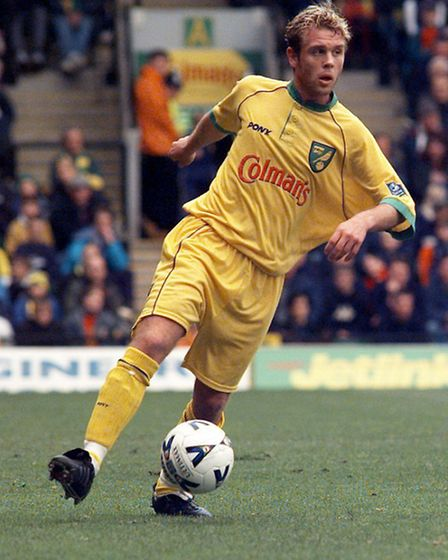 Cedric Anselin playing for Norwich City.