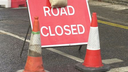 The A143 will be closed