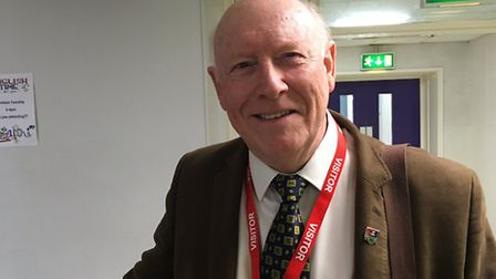 Brian Granger, treasurer of the Great Yarmouth Twinning Association, was among those who helped to b