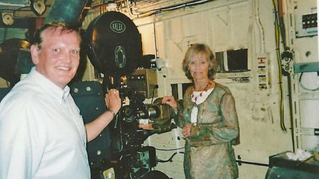 Michael Armstrong with movie legend Virginia McKenna, who visited for the screening of Born Free in