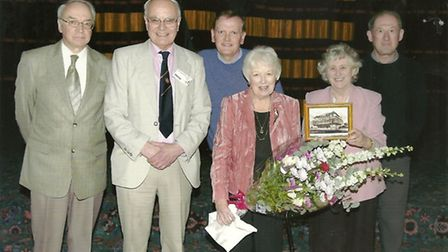 Regal Experience members on the cinema's stage with June Whitfield in April 2008. Photo supplied by