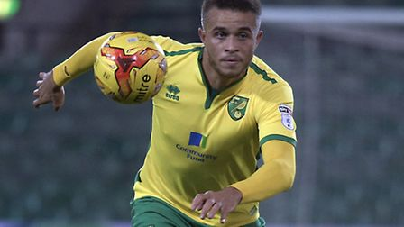 Carlton Morris has extended his Norwich City contract until the summer of 2020. Picture by Matthew U