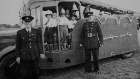 A five-year-old Roger Richardson, first child on left, pictured at a Sheringham carnival day with hi
