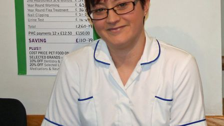Student nurse Catherine Carter. Picture: Mill House Vets