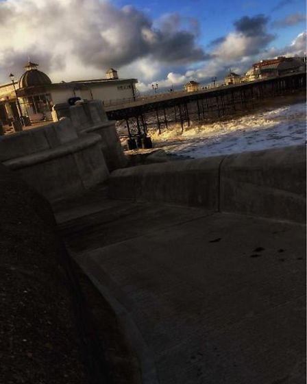 Cromer Pier also features in the rock photographer's book celebrating the Norfolk coast. Picture: Ni