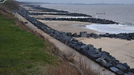 Hopton beach where Police and Border Force officers are investigating £50m of cocaine found. Pictur