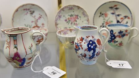 A private collection of Lowestoft porcelainis set be auctioned at Durrants, Beccles.PHOTO: Nick Bu