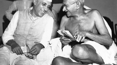 Jawaharlal Nehru, first prime minister of India, pictured with Mahatma Gandhi in 1946. Nehru had vis