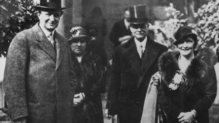 Philip Kerr, Lord Lothian (left) with Lord and Lady Astor, two of the guests for the July 1938 count