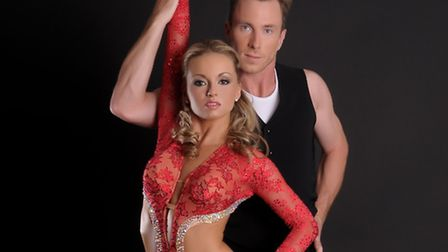 Strictly stars James and Ola Jordan wowed guests with a spectacular dance routine in honour of local