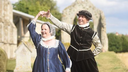 A Shakespeare dance day at Wymondham Abbey in 2016. Pictured are Chris Gill and Susan Golt. Picture: