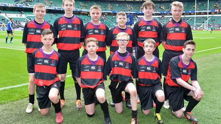 City Academy Norwich's Year 8 and 9 students who played in the showcase match at Twickenham. Picture
